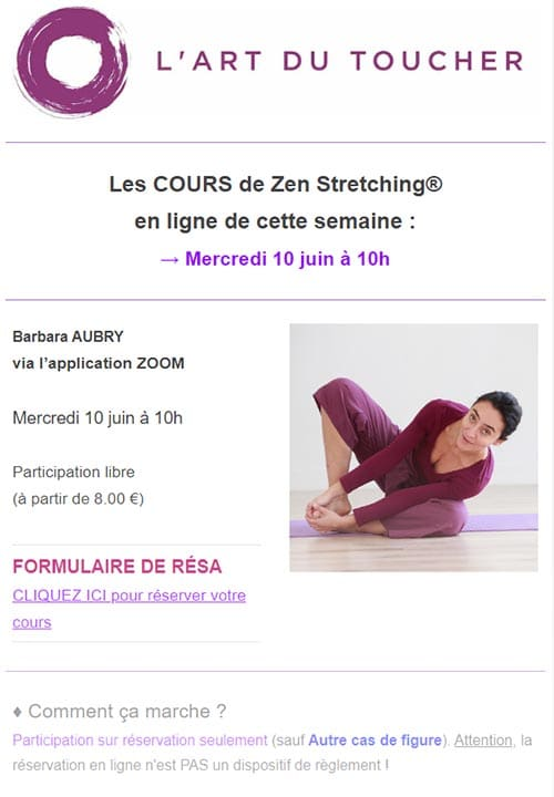 Newsletter Art du Toucher
